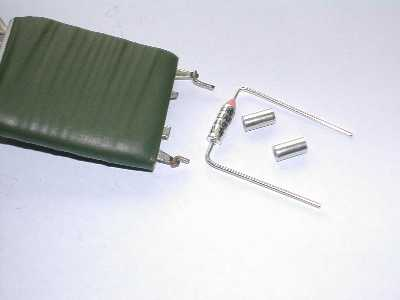 Resistor pack and replacement fuse and crimps