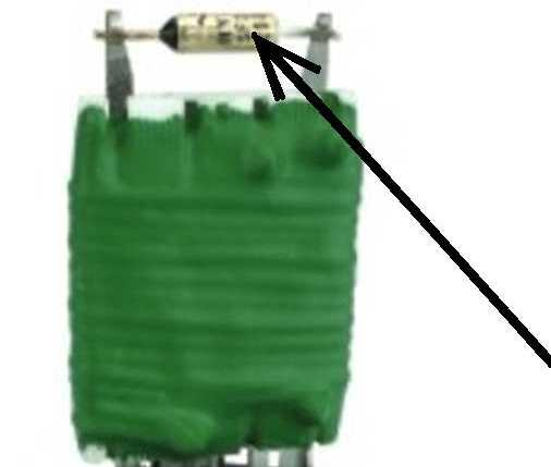 Highlighted Thermal Fuse on Resistor Pack