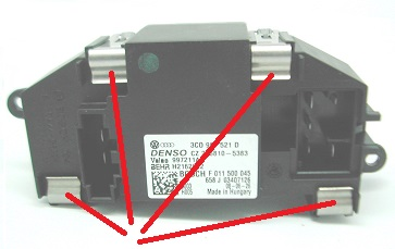 Repairable Blower Resistor for Seat Leon